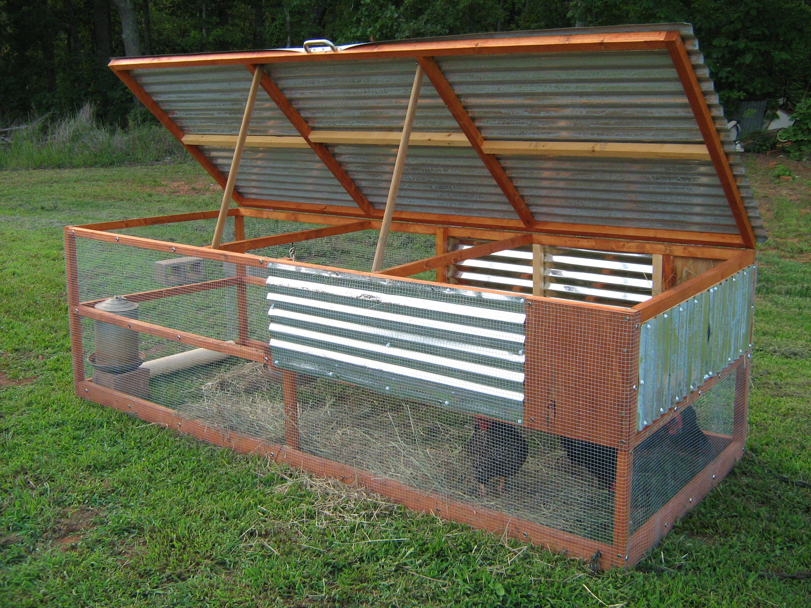 The gallery for chicken tractor build for Pvc chicken tractor plans